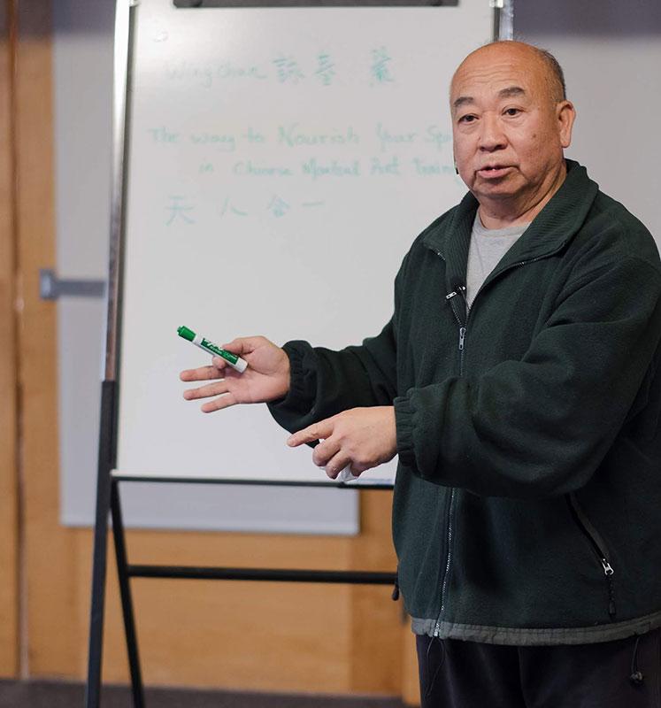 Sifu Nelson teaching in seminary